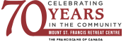 Mount St. Francis – Celebrating 70 Years Logo