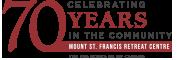 Mount St. Francis – Celebrating 70 Years Logo